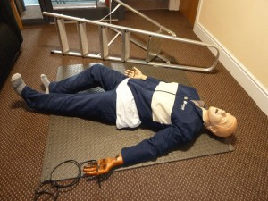 First Aid at Work Accident Scenario